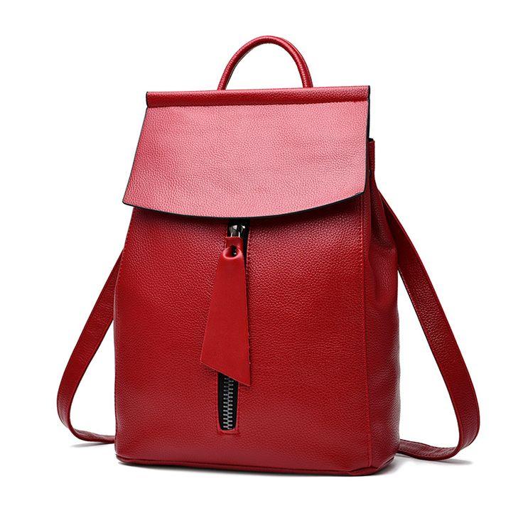 Cheap fashion women backpack, Buy Quality women backpack directly from China women backpack brand Suppliers: Woman Backpack Fashion 2017 Designers Spanish Brand School Bag Student Soild Backpacks Black Blue Bolso Mochila Mujer Pequeno