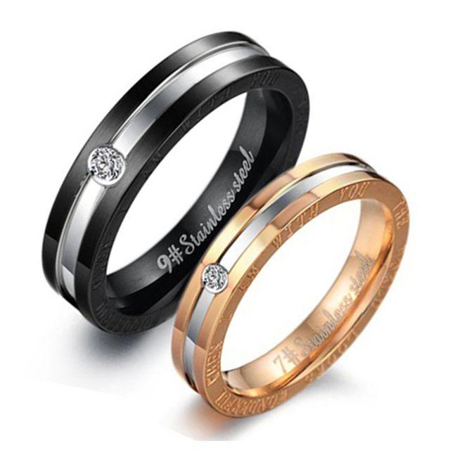 Бесплатная Доставка Оптовая Продажа Ювелирных изделий горячей продажи выросли позолоченные Нержавеющей любителей Стальные кольца для женщин/мужчин подарки LGJ306