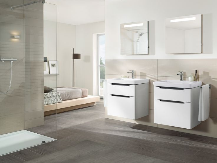 Do You Like This Open Bathroom Concept With Subway Shower Tray And Wash Basins How