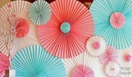 Design Dazzle: DIY: Paper Rosettes using paper blinds from hardware store for the size and how to display them