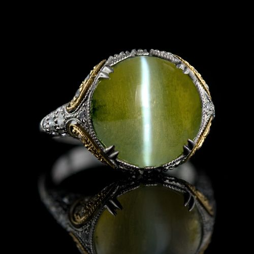 Natural chrysoberyl cat's eye gems are absolutely stunning.
