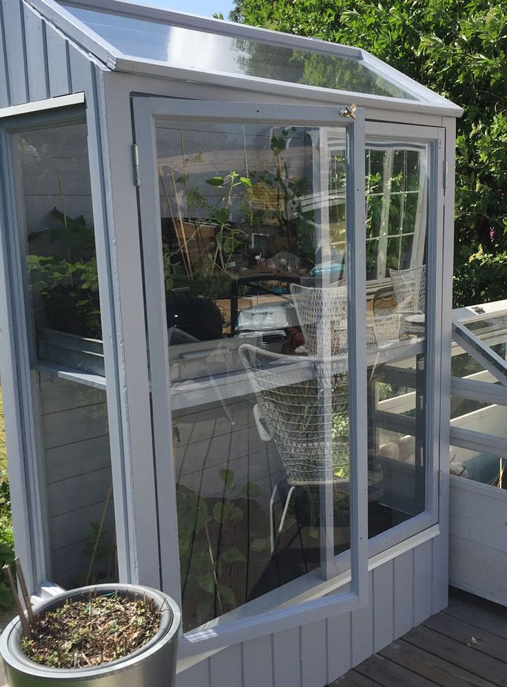 Outdoor Grow Cabinet or Mini Greenhouse. Here's a DIY guide on how to build a Greenhouse like this.