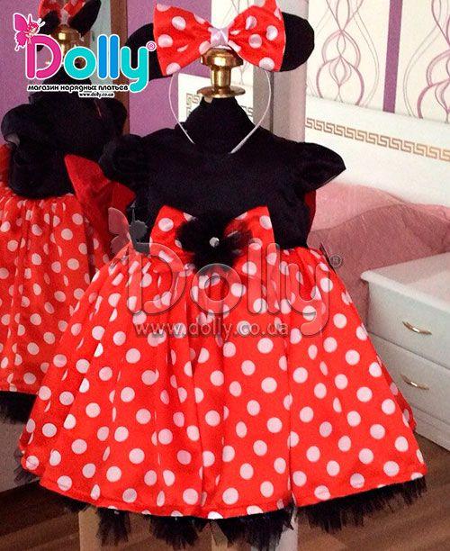 Платье Минни-Маус чёрное
