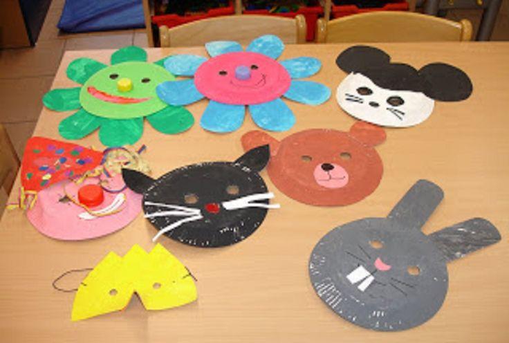 Afbeeldingsresultaat voor maskers dieren papieren bordjes
