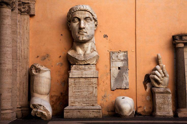 El coloso de Constantino, un cabezón en toda regla. Museos Capitolinos. Roma