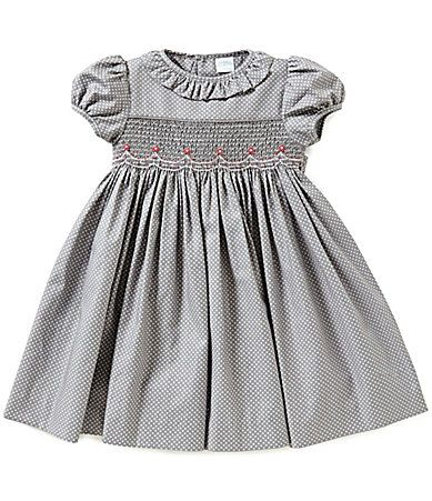 Edgehill Collection Baby Girls 324 Months Dotted Smocked Dress #Dillards