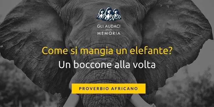 Il calcolo mentale rapido si basa alla fine su un vecchio proverbio africano: Come si mangia un elefante? Un boccone alla volta.