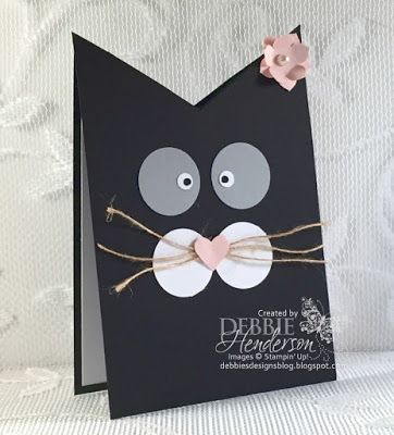 My granddaughter Kaitlynn just loved her 3rd grade teacher this year. So much so that she asked if I could create a kitty card because her teacher loves cats. She and my daughter Jessica found one on