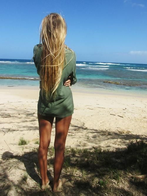 beachy.  I want her hair and body. That's not too much to ask, right?  Lol #summer
