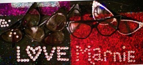 #workinprogress New #LoveMarnie #Glasses adorned with #Swarovski #Crystals <3 www.marniegrundman.com