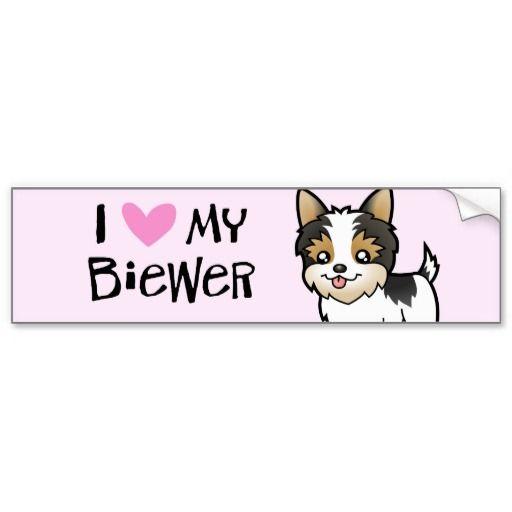 Biewer Yorkshire Terrier Love (short hair) Bumper Sticker