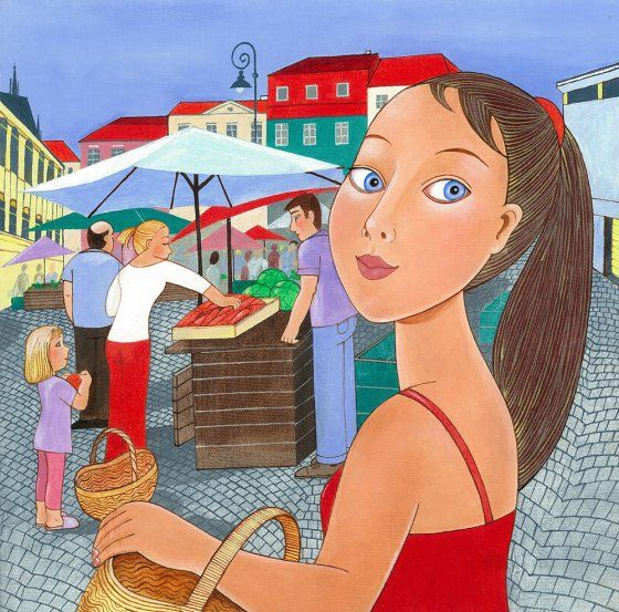 Dívka na trhu