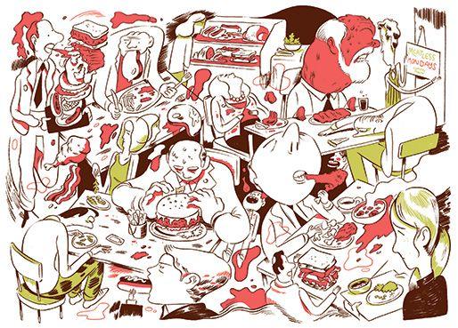 The Congressional War on Vegetarians by Marin Cogan http://on.tnr.com/14jKEtB Illustration by  Luke Pearson