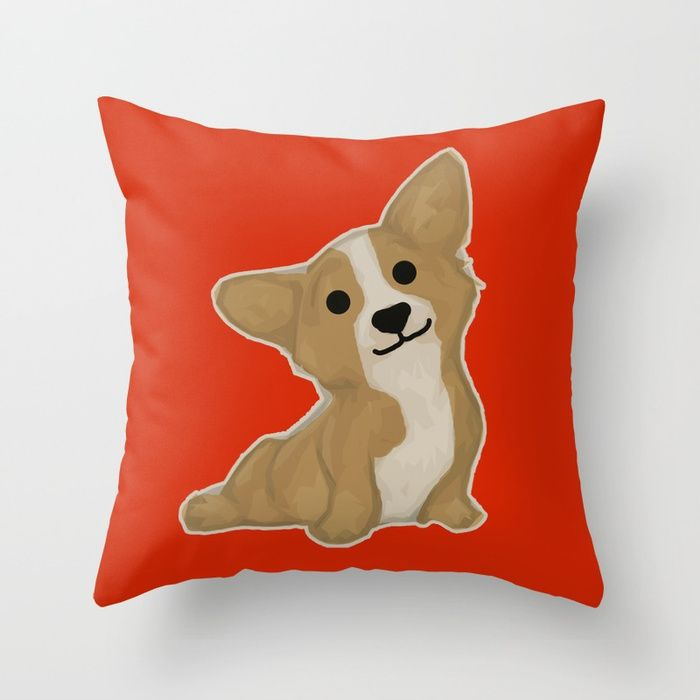 Throw Pillow made from 100% spun polyester poplin fabric, a stylish statement that will liven up any room. Individually cut and sewn by hand, each pillow features a double-sided print and is finished with a concealed zipper for ease of care.  Sold with or without faux down pillow insert.  #dog #puppy #chinesenewyear #newyear #festive #holiday #red #chinese #新年 #新年快乐 #农历新年 #zazzle #society6