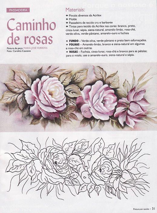 Raquel Art Pintura: Pintura em Tecido
