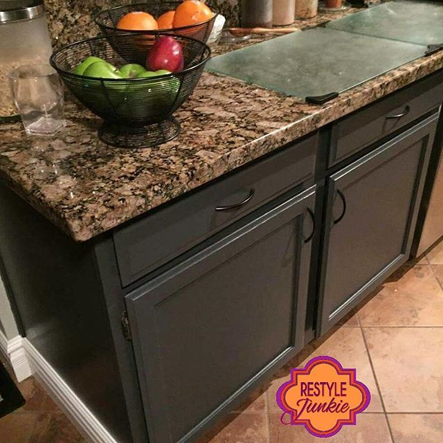 Grey Kitchen Cabinets Really Make The Countertops Pop! The Perfect Upgrade  From Builder Grade Oak