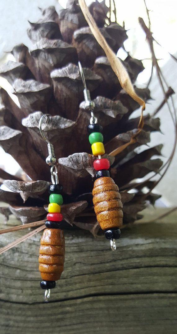 Customized beaded Earrings/Rasta Earrings/Jamaican Rasta