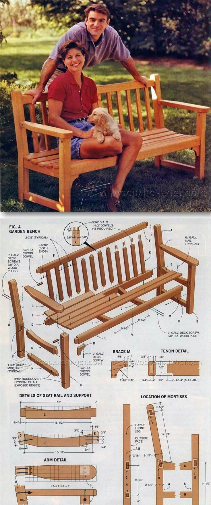 Garden Bench Plans   Outdoor Furniture Plans And Projects |  WoodArchivist.com
