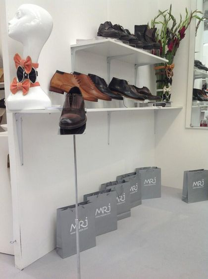 MRJ is doing shoes and bow ties as well as hands free bags! This was a little secrete they kept up until today at #Pure34 on stand T 270