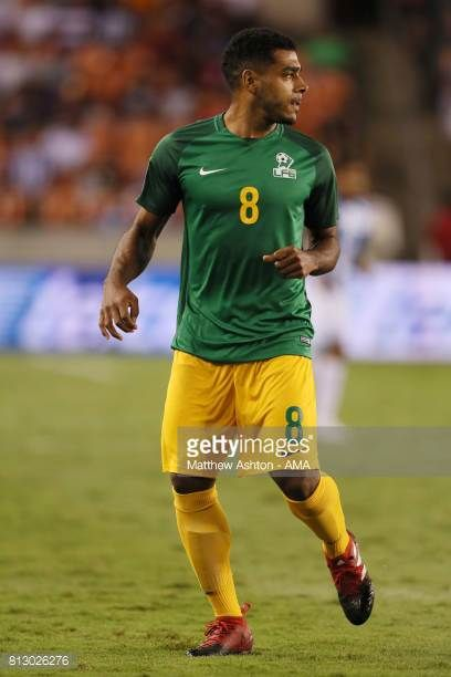 JeanDavid Legrand of French Guiana during the 2017 CONCACAF Gold Cup Group A match between Honduras and French Guiana at BBVA Compass Stadium on July...