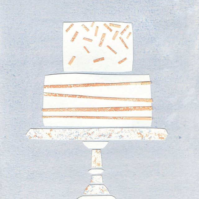I wonder what kind of cake the queen has for her birthday! 🍰🎈 . . . #fancy #cake #birthday #party #queensbirthday #lovelysquares #mondaymood #marblelove #thismarbledlife #watercolour #illustration #collage #stationary  #greetingcards #longweekend #royal