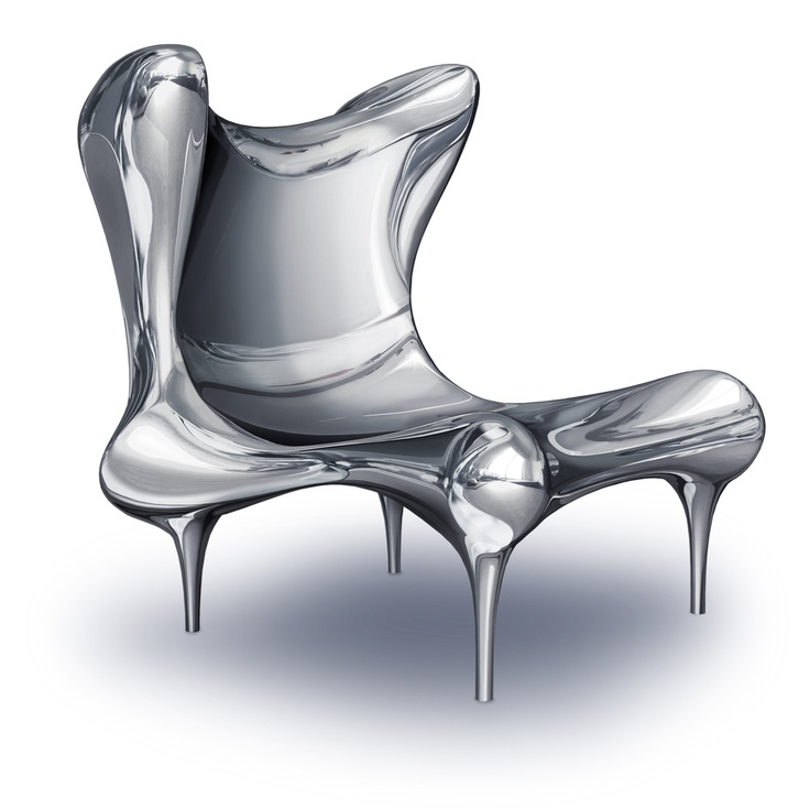 Riemann Chair in Mirror-Polished Stainless Steel | chair . Stuhl . chaise