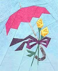 Wedding/April520Showers Paper-Pieced Quilt Pattern at paperpanache.com