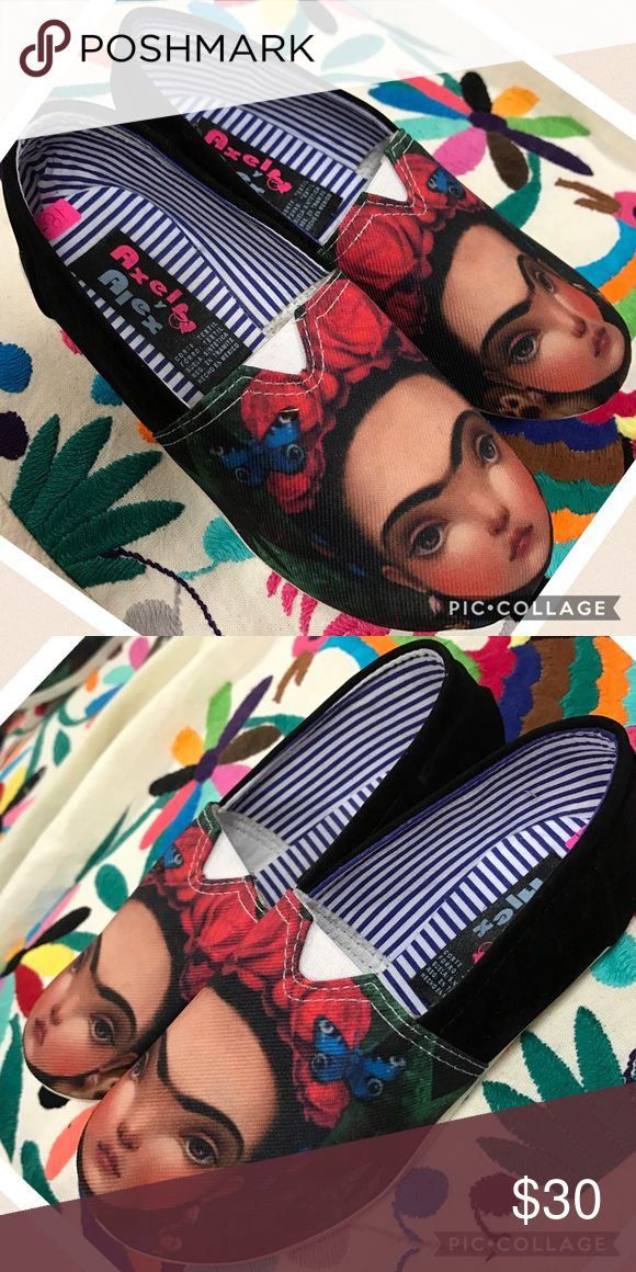 🎉 New Frida Kahlo Girl Tennis Shoes Loafers Flats New Frida Kahlo Girls Tennis Shoes Size 11 for Girls ( Mexican size 18) Cielito Lindo  Shoes Sneakers