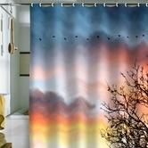 Found it at AllModern - Bird Wanna Whistle Bird Line Shower Curtain