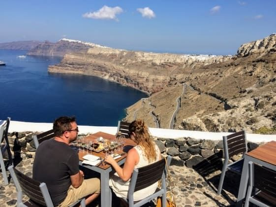 Discover the world of wine in Santorini with friends and family! Sit back, relax and sip wine while enjoying the views of the incredible Santorini landscape.