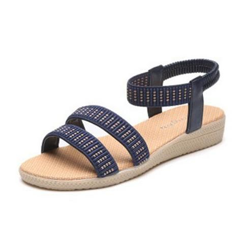 Women Flats Sandals Fashion Casual Beach Sandals Bohemian Fashion Summer Shoes Casual womens fashion for summer 2017