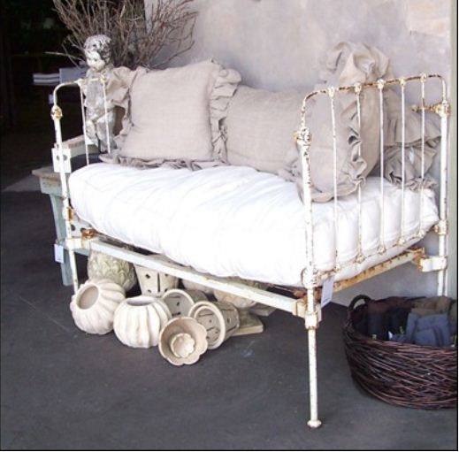 Outdoor shabby chic bench