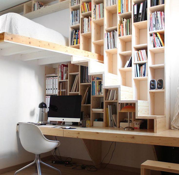 ideas de escaleras para altillos espacios reducidos