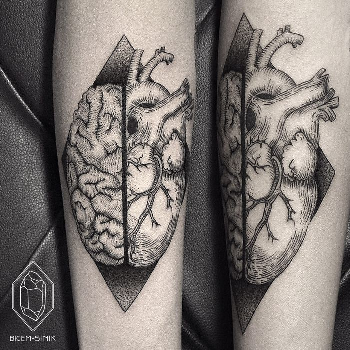 17 Best Ideas About Brain Tattoo On Pinterest Piercing