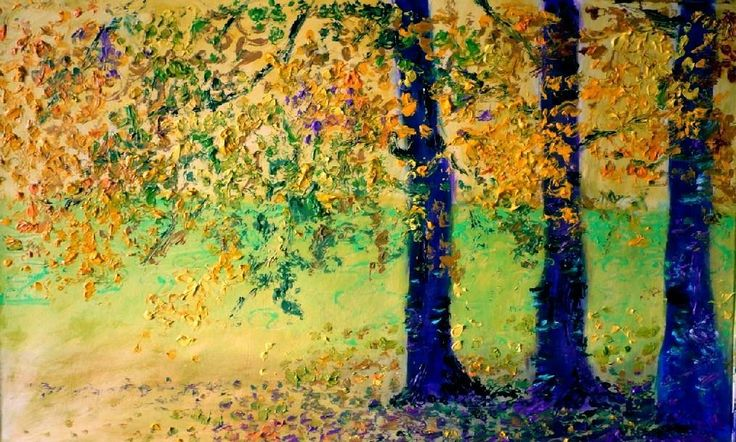 """Autumn Trees"" Oil Painting by Hungarian Artist Gui Demeter"