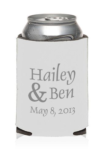 Personalized Collapsible Wedding Can Cooler | KZW132 - Discount Mugs