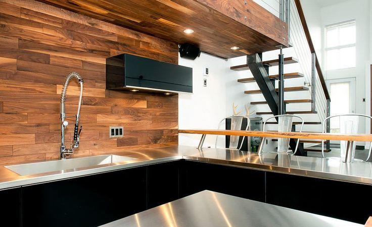 Cuisine contemporaine loft armoires de cuisines qu bec for Armoires de cuisine contemporaine