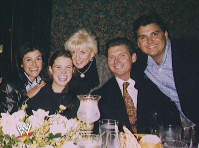 The McMahon Family: Vince, Linda, Shane, Stephanie, & Shane's wife Marissa Mazzola