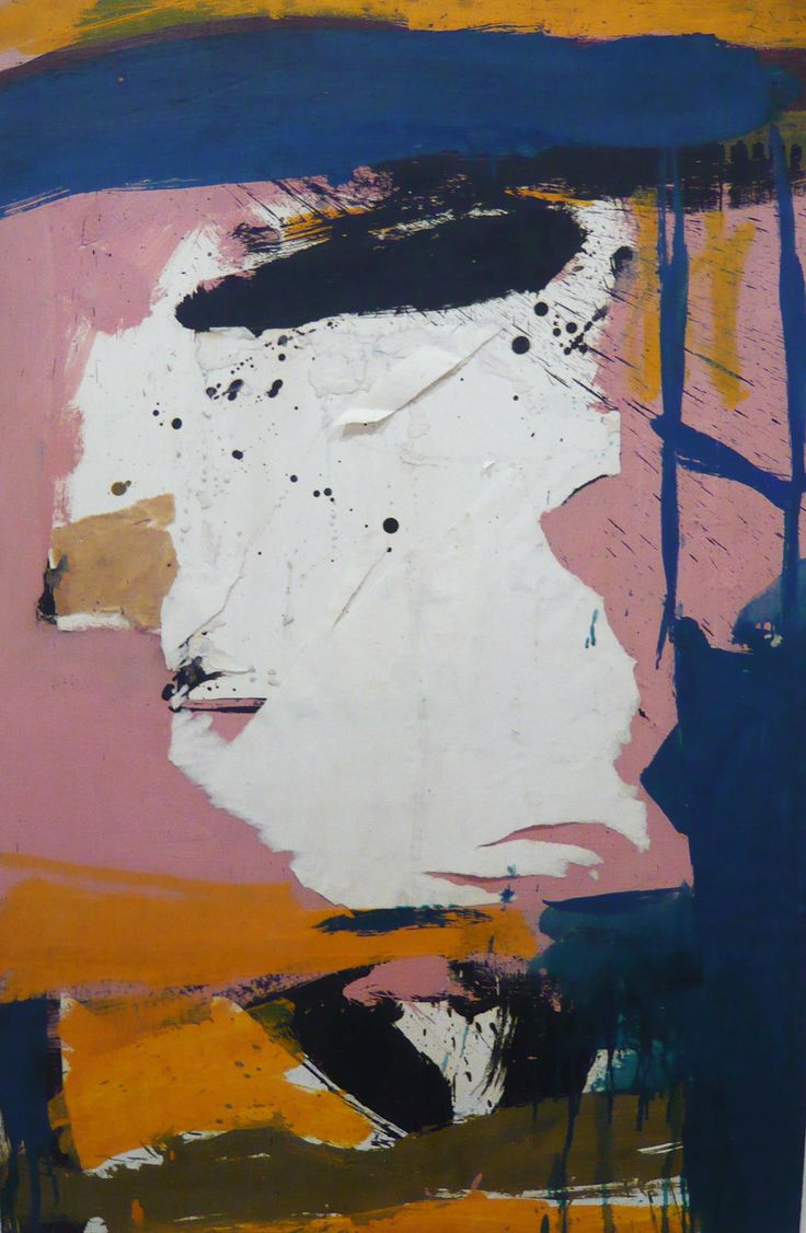 Robert Motherwell (1915-1991) Untitled, 1960. Oil and torn paper collage on paperboard, 39 1/2 x 26 inches.