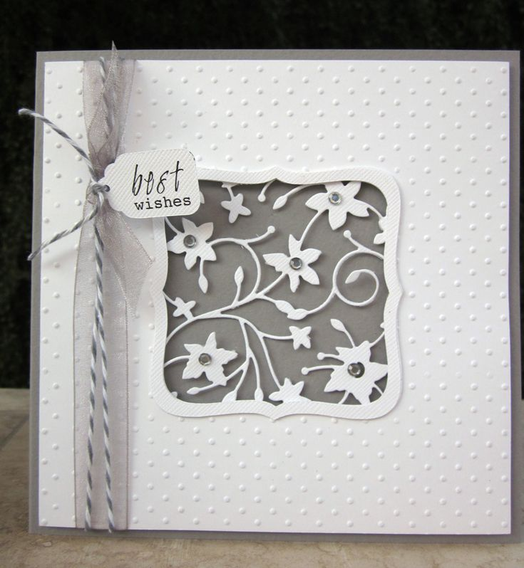 handmade card ... Memory Box die cut in negattive space  .... like the wide band for the frame ,,,