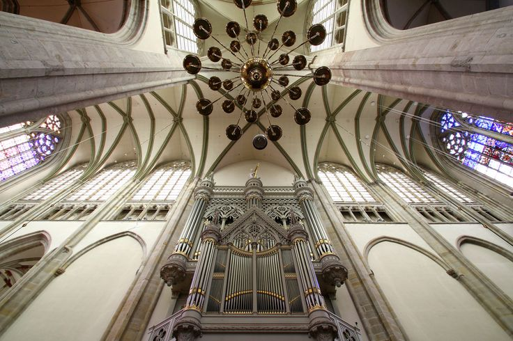 Interior of the Domkerk (domchurch) with the organ built by organbuilder Bätz.  Getty Images