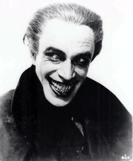 "The original inspiration for The Joker Conrad Veidt in ""The Man Who Laughs"" (1928)"