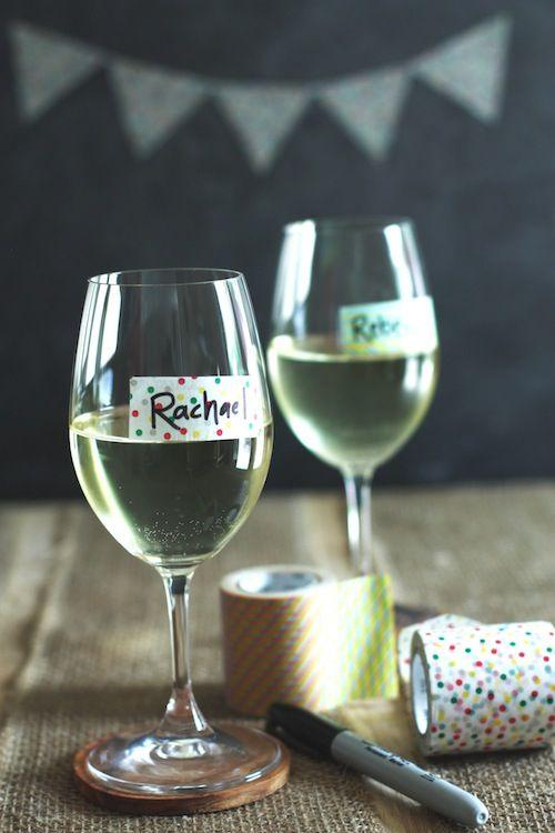 DIY Wine Glass Labels