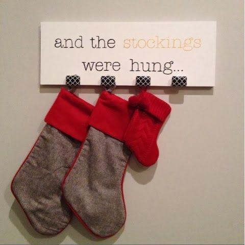 DIY Stocking Hanger Christmas Stockings Hang Stockings