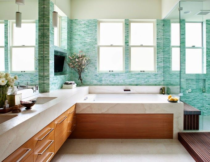1000 images about spa inspired bathroom designs on for Sea green bathroom ideas