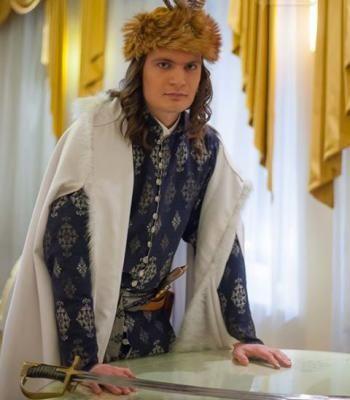 Żupan ślubny stylizowany na barokowy. Wykonanie żupana: Agnieszka Monika Mazur