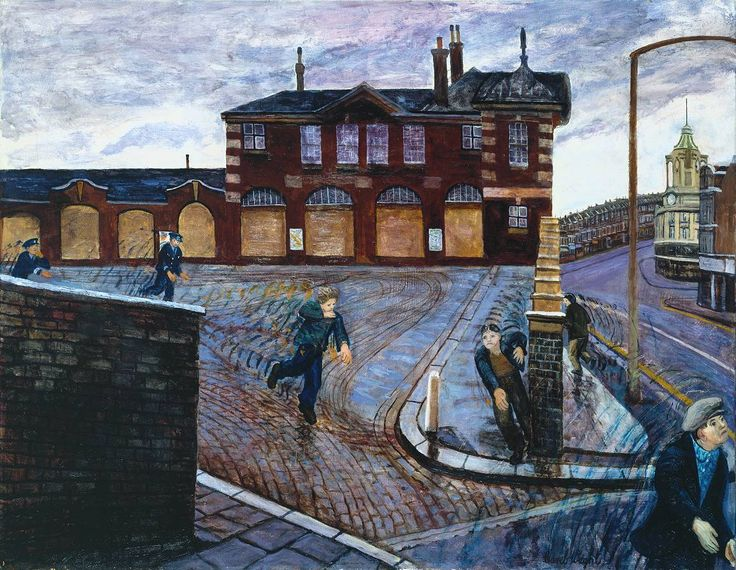 Carel Weight. 'Clapham Junction'. Oil on canvas. 1978.