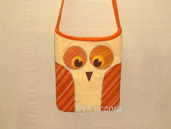 Owl bag, tote, recycled bag, shoulder bag, cross body bag, yellow
