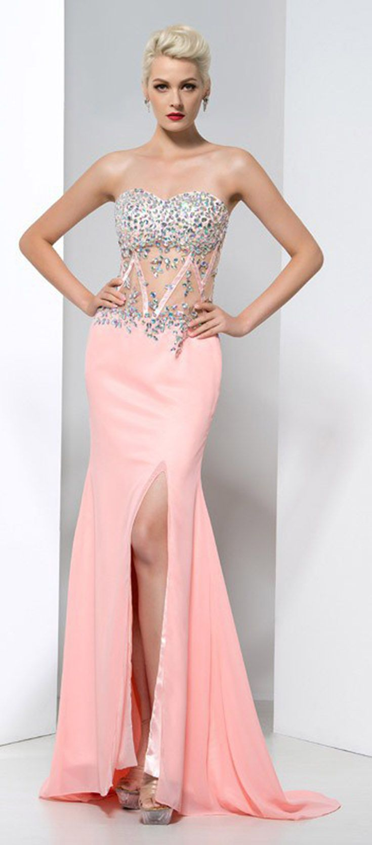 Mejores 80 imágenes de Pink Prom Dresses en Pinterest | Vestidos de ...