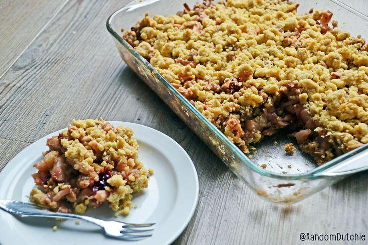 Rhubarb apple berry crumble recipe